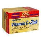 Additiva vitamin C + zinek 33% gratis cps. 80