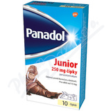 Panadol Junior čípky 250mg rct.sup.10x250mg