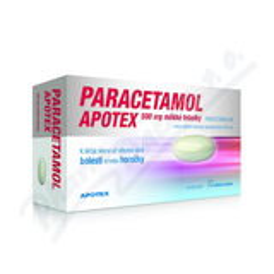 Paracetamol Apotex 500mg cps.mol.10