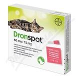 Dronspot 60mg-15mg střední kočky spot-on 2x0. 7ml