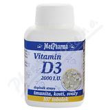 MedPharma Vitamin D3 2000 I.U. tob.107