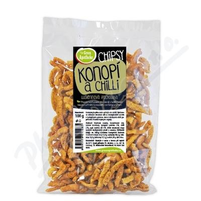 Green Apotheke Chipsy s konopím a chilli 100g