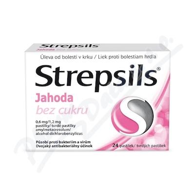 Strepsils Jahoda bez cukru 0.6mg-1.2mg pas.24